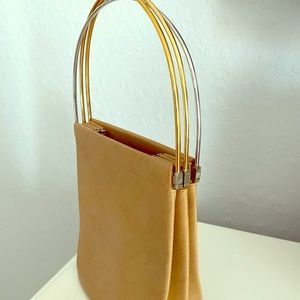 Cartier Trinity Gold Silver Leather Tote Camel